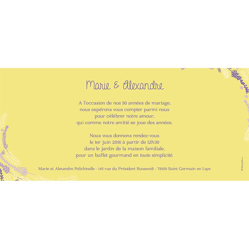 Carte anniversaire de mariage Brise d'été  gratuit