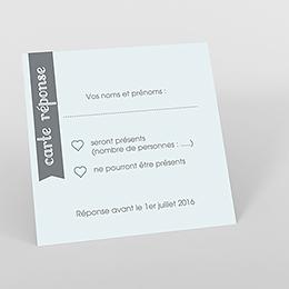 Carton réponse mariage Mille fois oui gris