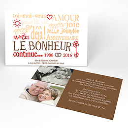 Carte anniversaire de mariage Jeu de mots chocolat
