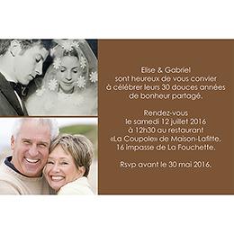 Carte anniversaire de mariage Jeu de mots chocolat gratuit