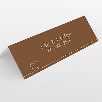Marque-place mariage Voyage chocolat
