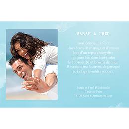 Carte anniversaire de mariage Bleu ciel  gratuit