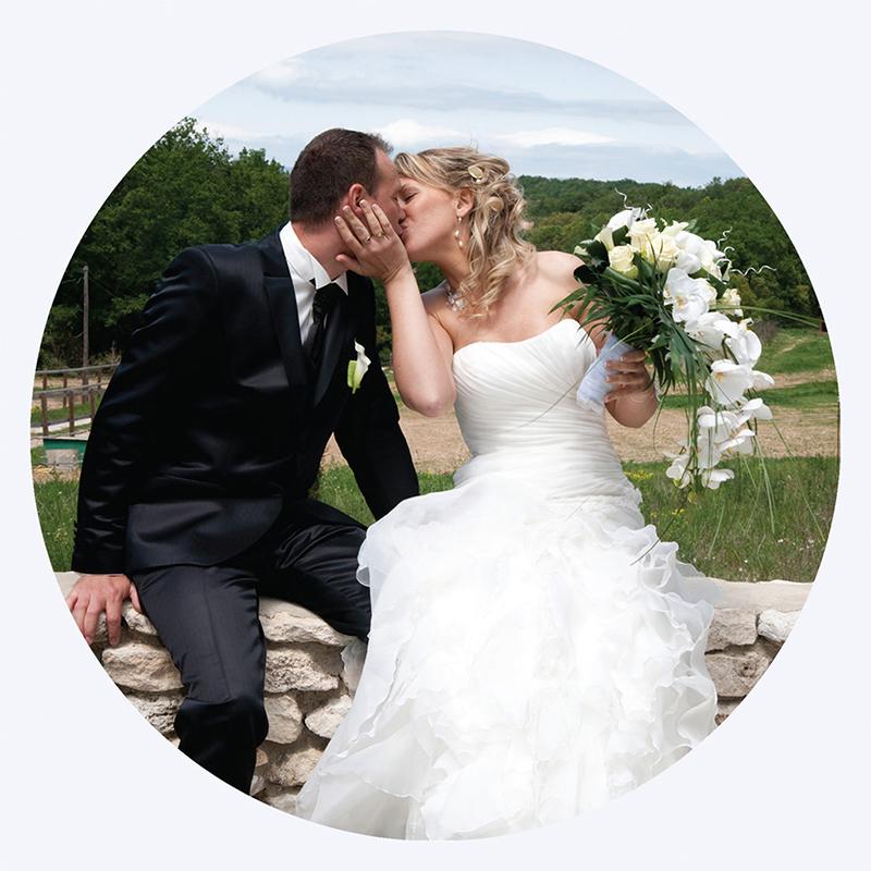 Carte de remerciement mariage Liberty chic  gratuit