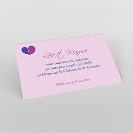 Carte d'invitation mariage Pétales mauve