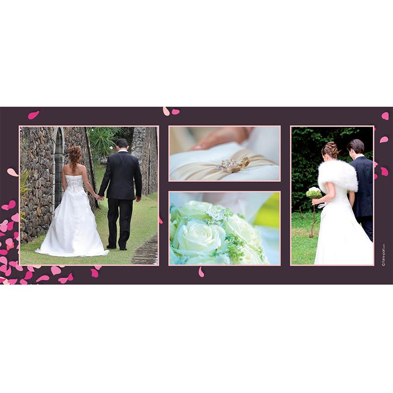 Carte de remerciement mariage Pétales violine gratuit