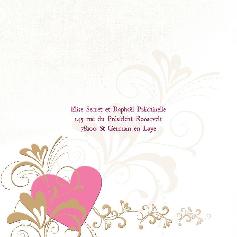 Faire-part de mariage Certitude  gratuit