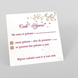 Carton réponse mariage Certitude