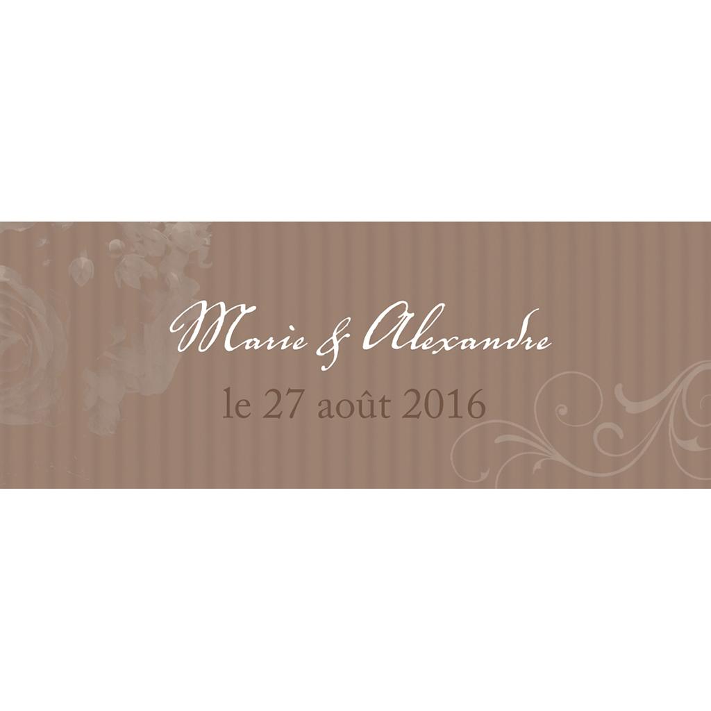 Marque-place mariage Bouquet  pas cher