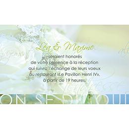 Carte d'invitation mariage Florilège vert pas cher