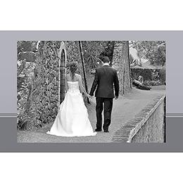 Carte de remerciement mariage Cérémonie gris gratuit