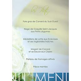 Menu mariage Florilège vert
