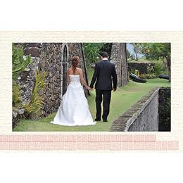 Carte de remerciement mariage Les lampions  gratuit