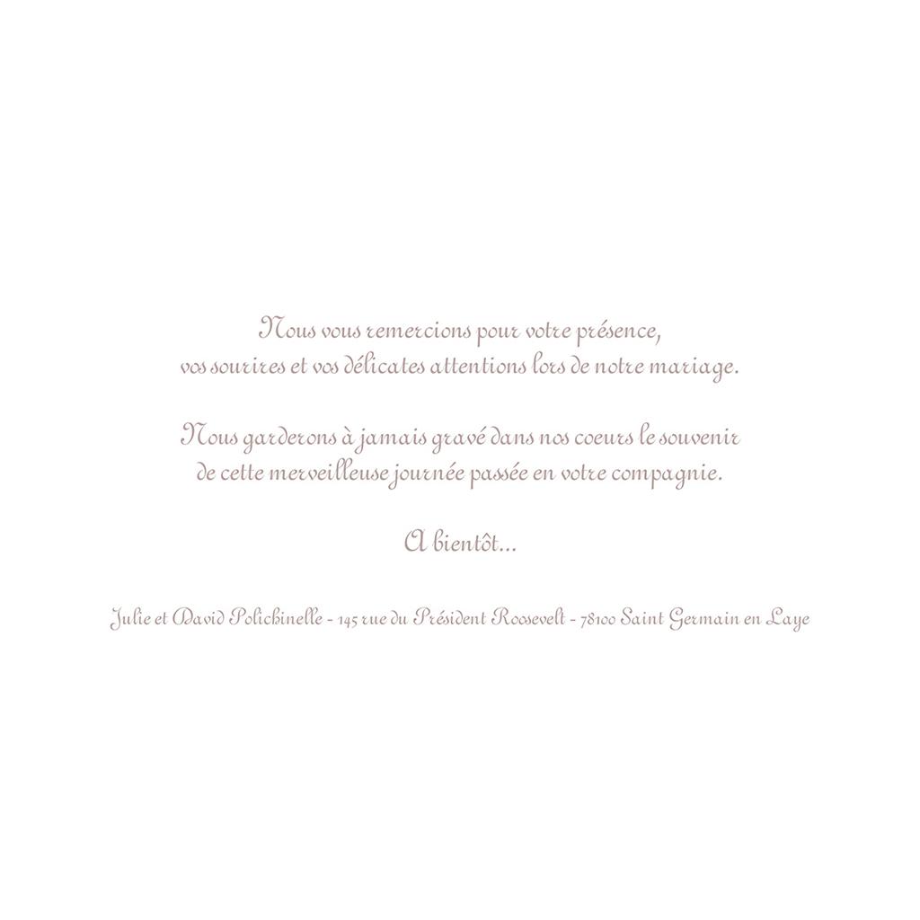 Carte de remerciement mariage Bonheur à croquer  gratuit