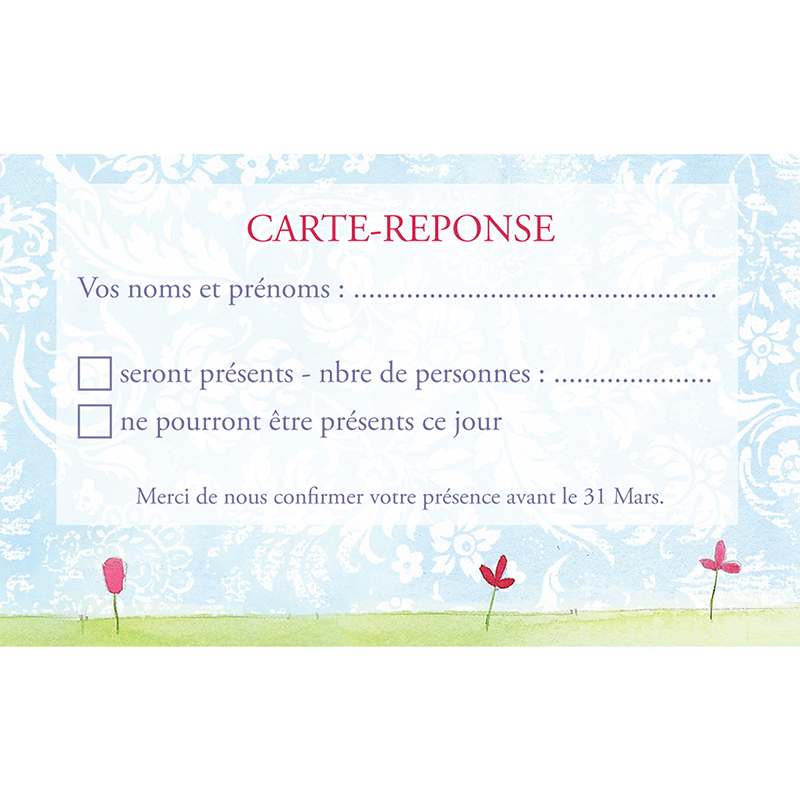 Carton réponse mariage Getting married  pas cher