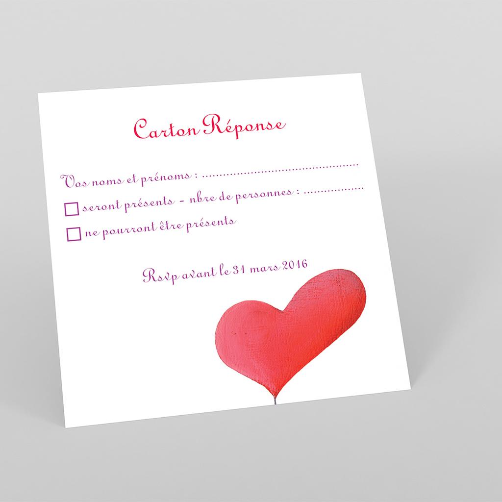 Carton réponse mariage La balançoire
