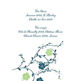 Menu mariage Nuptial bleu gratuit