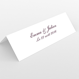 Marque-place mariage Nuptial gris rose
