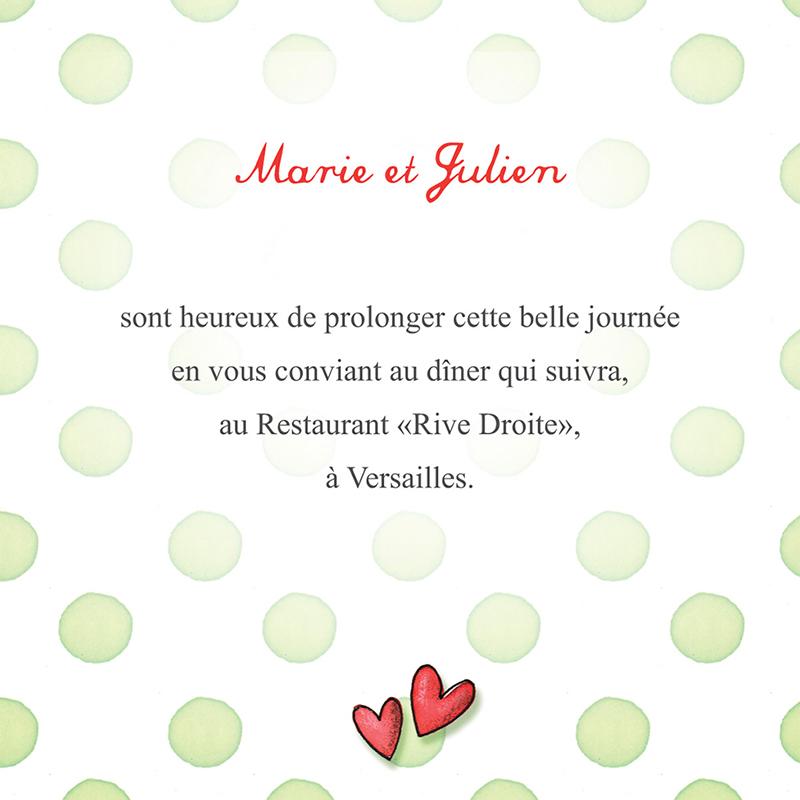 Carte d'invitation mariage Bol d'amour  pas cher