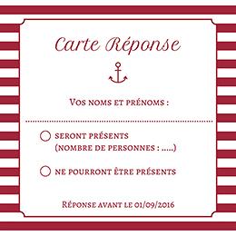 Carton réponse mariage Navy chic  pas cher