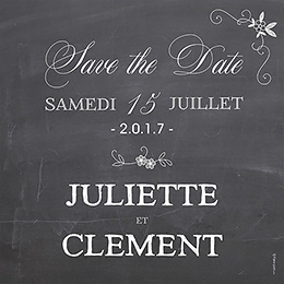 Save-the-date mariage Ardoise  pas cher