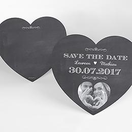 Save-the-date mariage Wedding cake ardoise