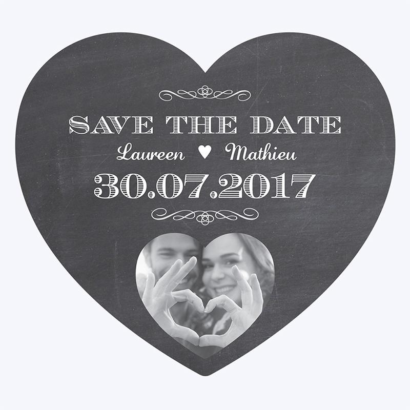 Save-the-date mariage Wedding cake ardoise pas cher