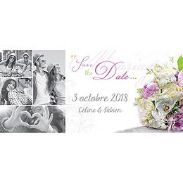 Save-the-date mariage Eternité  pas cher
