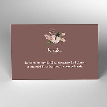 Carte d'invitation mariage Boho