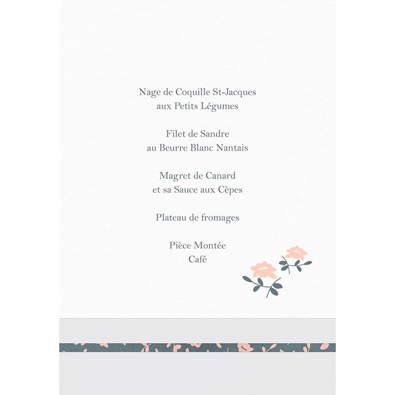 Menu mariage Simplicité