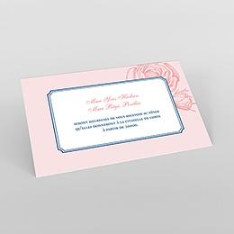 Carte d'invitation mariage Rose et Bleu