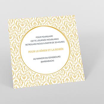 Carte d'invitation mariage Rococo graphique