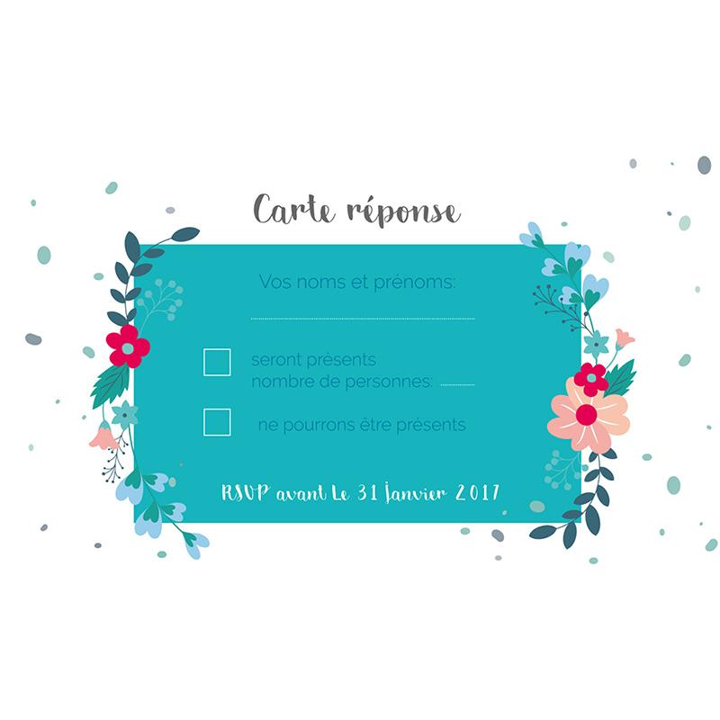 Carton réponse mariage Gipsy pas cher