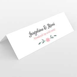 Marque-place mariage Feuillage