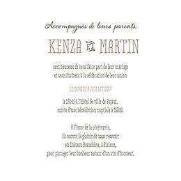 Faire-part de mariage Trendy
