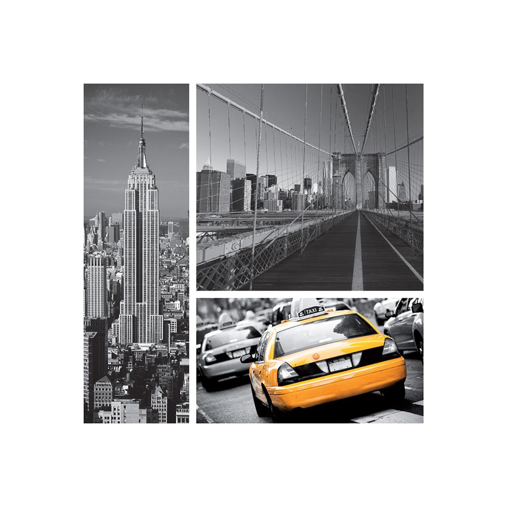 Faire-part de mariage New york jaune  gratuit