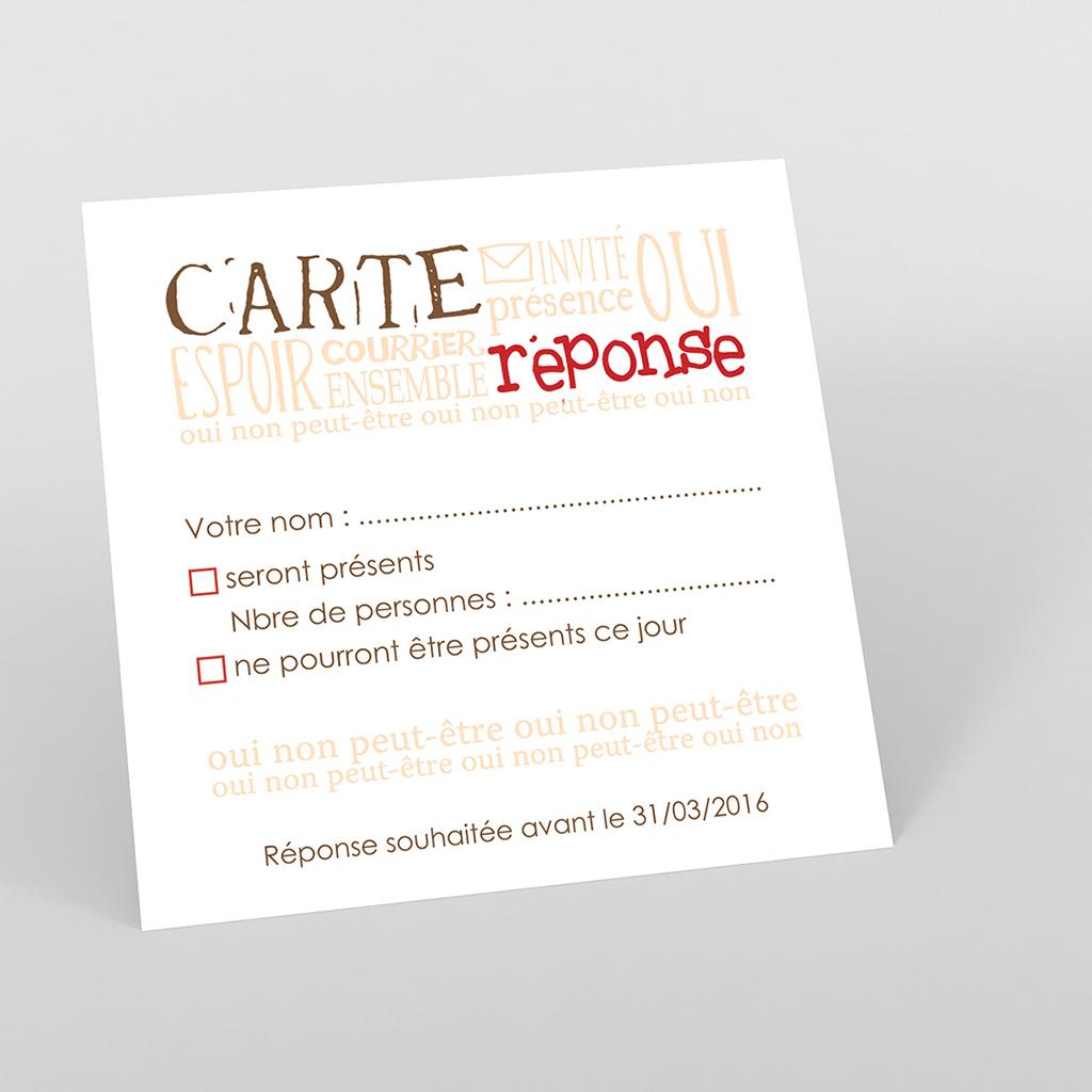Carton réponse mariage Jeu de mots chocolat