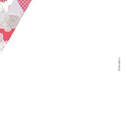 Faire-part de mariage Origami gris rose