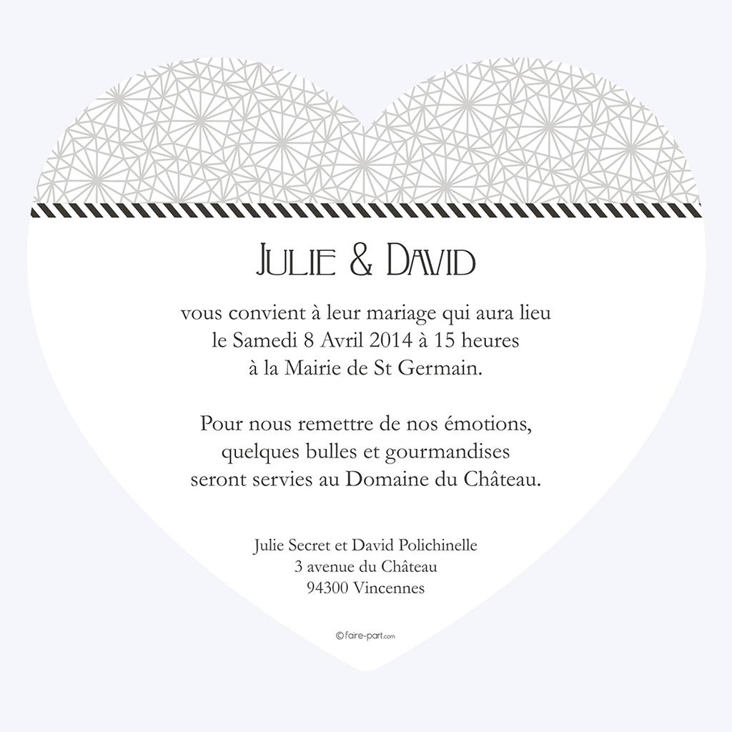 Faire-part de mariage Wedding mr et mme gratuit
