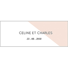 Marque-place mariage Love Ink pas cher