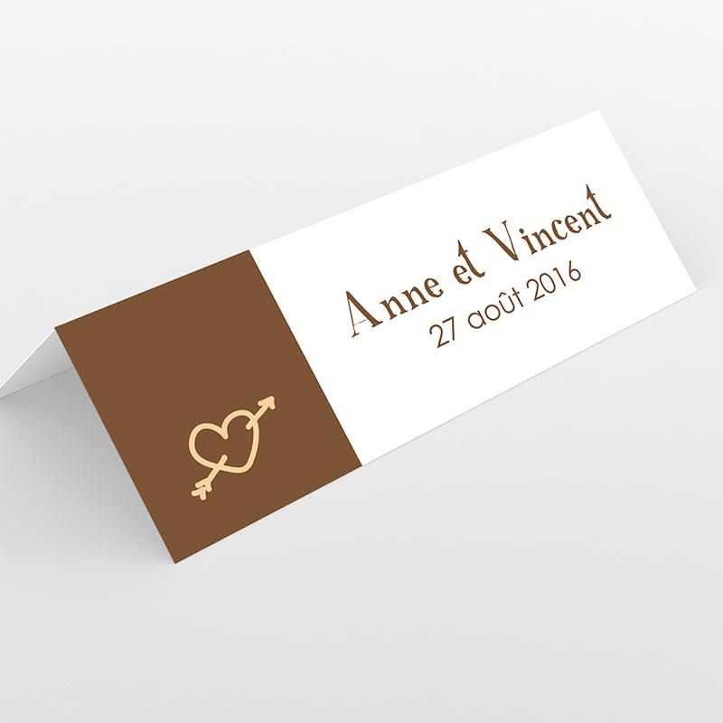 Marque-place mariage Jeu de mots chocolat