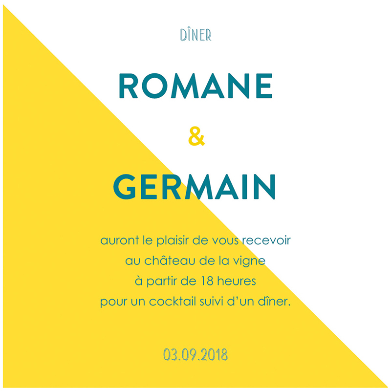 Carte d'invitation mariage Love Summer pas cher