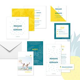 Carte d'invitation mariage Love Summer gratuit