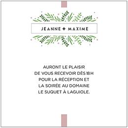 Carte d'invitation mariage Un Grand Oui pas cher