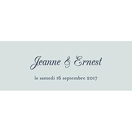 Marque-place mariage Gris et Rose Poudré gratuit