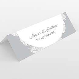 Marque-place mariage Plume