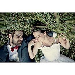 Carte de remerciement mariage Les Amoureux gratuit