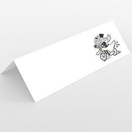 Marque-place mariage Vélo à deux