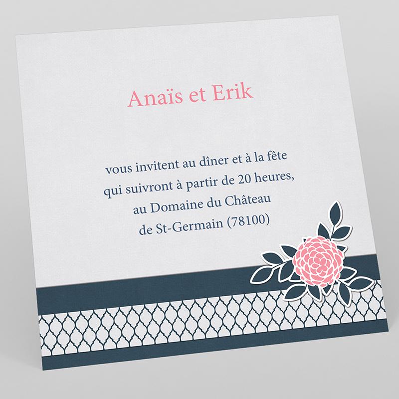 Carte d'invitation mariage Fleuri Chic