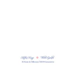 Faire-part de mariage Fleur Bleue Elégance gratuit