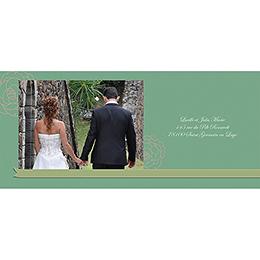 Carte de remerciement mariage Ruban  gratuit